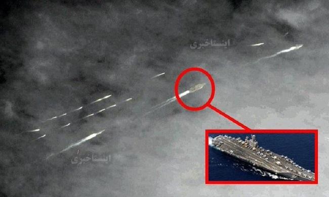 Un grupo de 20 pequeñas embarcaciones iraníes «acosan» portaaviones de la Marina de los EE. UU.